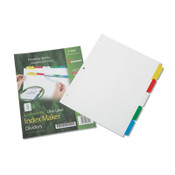 AbilityOne® 7530014344198 SKILCRAFT Avery Index Maker Dividers, 5-Tab, 11 x 8.5, White, 1 Set Item: NSN4344198