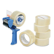 """AbilityOne® 7510015796872 SKILCRAFT Commercial Package Sealing Tape with Pistol Grip Dispenser, 3"""" Core, 2"""" x 55 yds, Clear, 6/Pack Item: NSN5796872"""