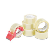 """AbilityOne® 7510015796873 SKILCRAFT Commercial Package Sealing Tape with Handheld Dispenser, 3"""" Core, 2"""" x 55 yds, Clear, 6/Pack Item: NSN5796873"""