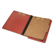AbilityOne® 7530015907107 SKILCRAFT End Tab Classification Folders, 1 Divider, Letter Size, Earth Red, 10/Box Item: NSN5907107
