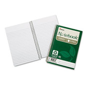AbilityOne® 7530016002013 SKILCRAFT Recycled Notebook, 1 Subject, Medium/College Rule, Green Cover, 7.5 x 5, 80 Sheets, 6/Pack Item: NSN6002013