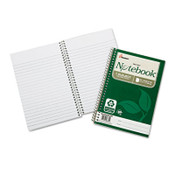 AbilityOne® 7530016002017 SKILCRAFT Recycled Notebook, 1 Subject, Medium/College Rule, Green Cover, 9.5 x 6, 80 Sheets, 3/Pack Item: NSN6002017