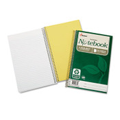 AbilityOne® 7530016002020 SKILCRAFT Recycled Notebook, 3 Subjects, Medium/College Rule, Green Cover, 9.5 x 6, 150 Sheets, 3/Pack Item: NSN6002020