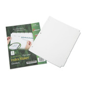 AbilityOne® 7530016006981 SKILCRAFT Avery Index Maker Dividers, 5-Tab, 11 x 8.5, White, 5 Sets Item: NSN6006981