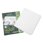 AbilityOne® 7530016006982 SKILCRAFT Avery Index Maker Dividers, 8-Tab, 11 x 8.5, White, 5 Sets Item: NSN6006982