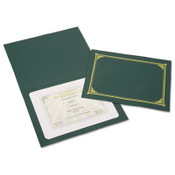 AbilityOne® 7510016272961 SKILCRAFT Gold Foil Document Cover, 12 1/2 x 9 3/4, Green, 6/Pack Item: NSN6272961