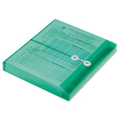 """AbilityOne® 7530016618835 Poly String-Tie Side Loading Expansion Envelope, 1.25"""" Expansion, 1 Section, Letter Size, Green, 5/Pack Item: NSN6618835"""