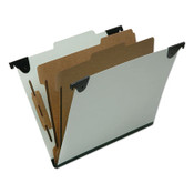AbilityOne® 7530016816250 SKILCRAFT Classification Folder, 2 Dividers, Letter Size, Light Green, 10/Box Item: NSN6816250
