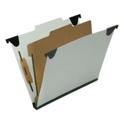 AbilityOne® 7530016816253 SKILCRAFT Classification Folder, 1 Divider, Letter Size, Light Green, 10/Box Item: NSN6816253