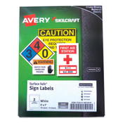 AbilityOne® 7530016878147 SKILCRAFT/AVERY Surface Safe Sign Labels, 5 x 7, White, 2/Sheet, 15 Sheets/Box, 12 Boxes/Box Item: NSN6878147