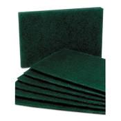 AbilityOne® 7920007535242, SKILCRAFT, Scouring Pad, Medium Grade, Nylon, Green, 10/Pack Item: NSN7535242