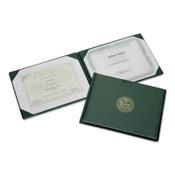 "AbilityOne® 7510007557077 SKILCRAFT Award Certificate Holder, 8 1/2"" x 11"", Army Seal, Green/Gold Item: NSN7557077"