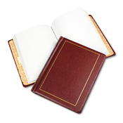 Wilson Jones® Looseleaf Minute Book, Red Leather-Like Cover, 250 Unruled Pages, 8 1/2 x 11 Item: WLJ039611